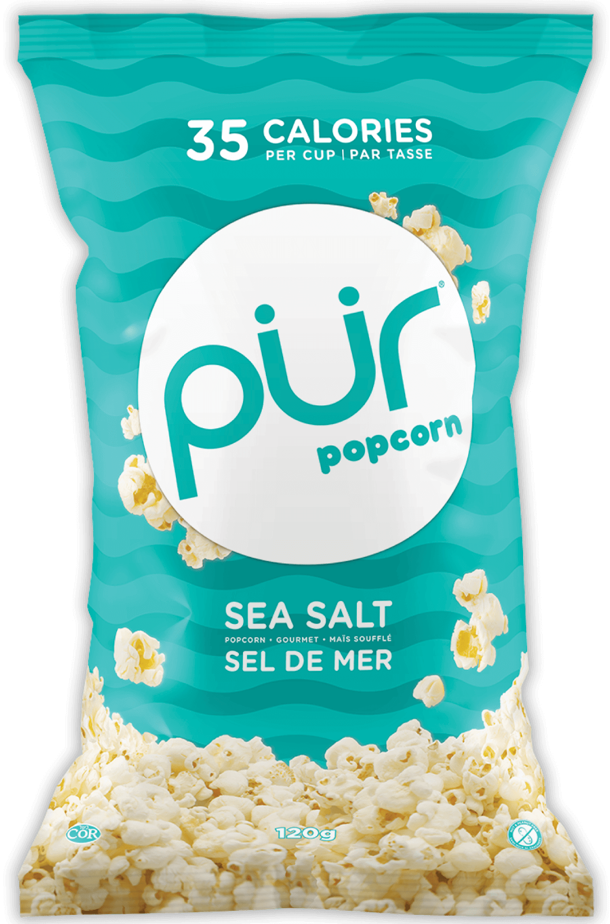 Food & Drink - The Pür Company - Sea Salt Popcorn, 120g