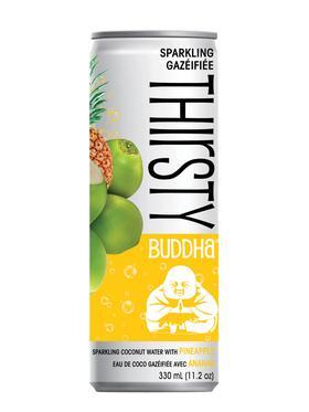 Food & Drink - Thirsty Buddha - Sparkling Coconut Water Pineapple, 330ml