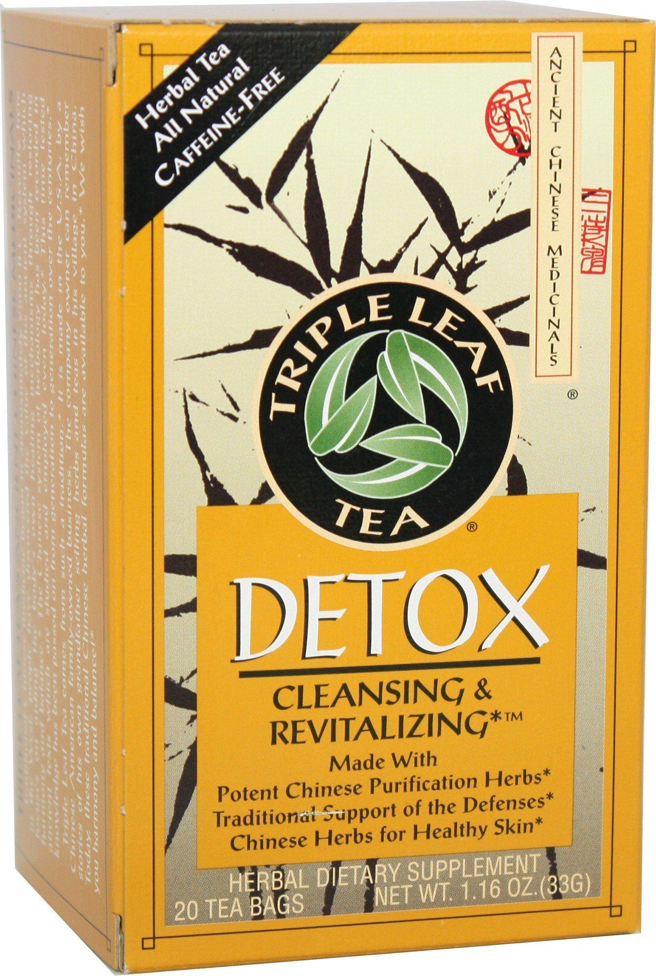 Food & Drink - Triple Leaf Brand - Detox Tea, 20 Bags