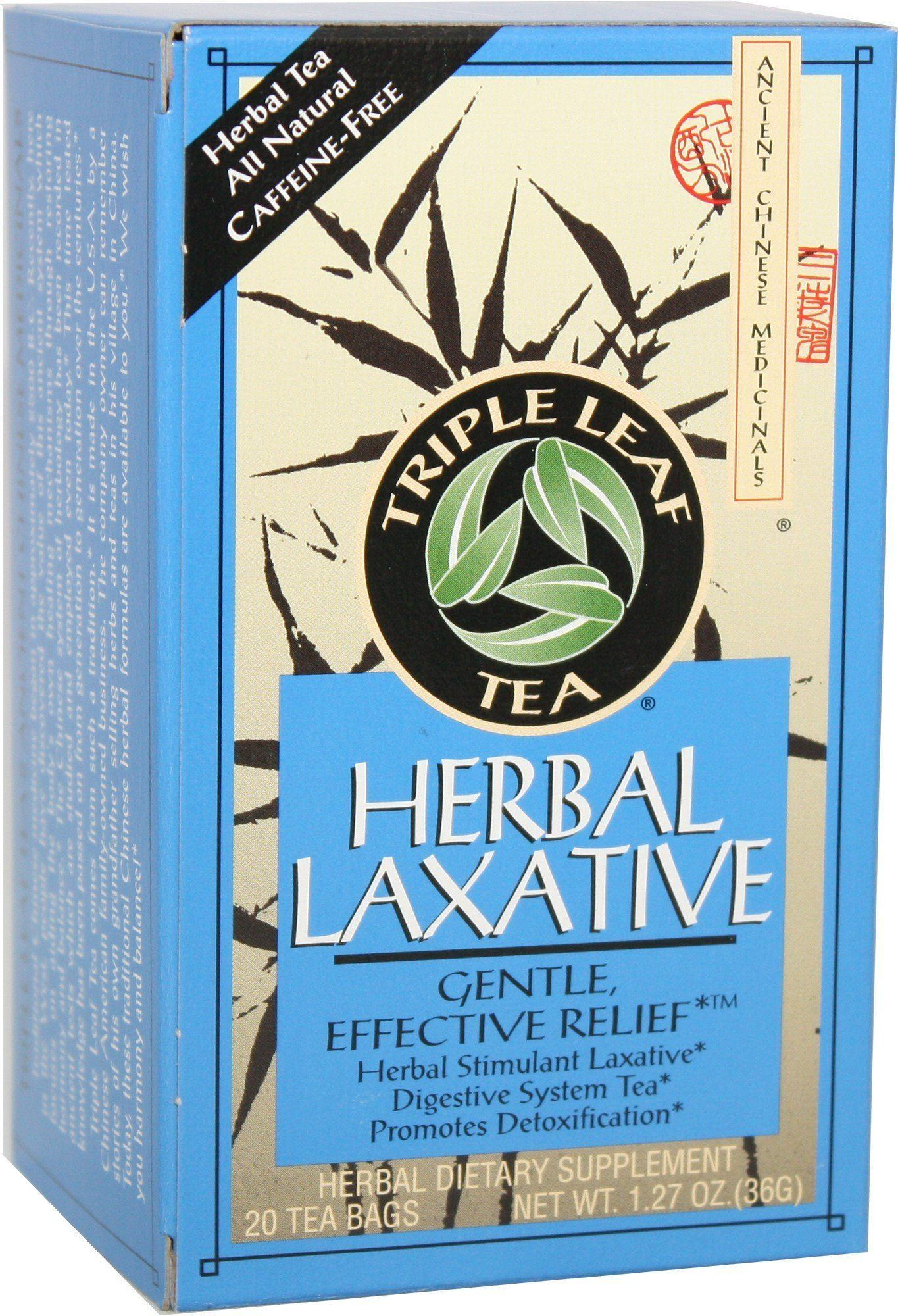 Food & Drink - Triple Leaf Brand - Herbal Laxative Tea, 20 Bags