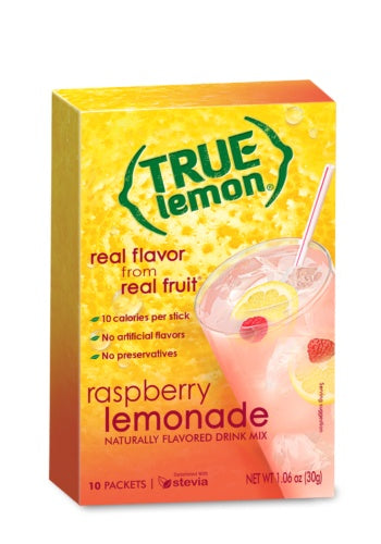 Food & Drink - True Lemon - True Raspberry Lemonade - 10 Sachets