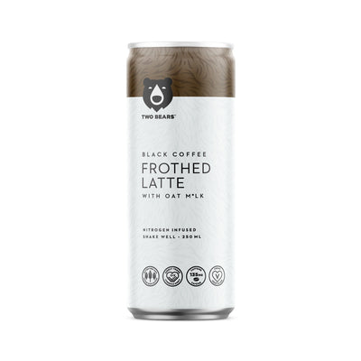 Food & Drink - Two Bears Coffee - Oat Milk Latte, Black, 250ml