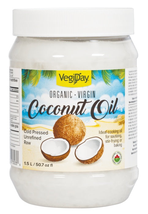 Food & Drink - VegiDay - Organic Virgin Coconut Oil, 1.5L