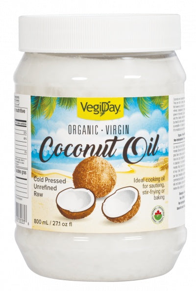 Food & Drink - VegiDay - Organic Virgin Coconut Oil, 800mL