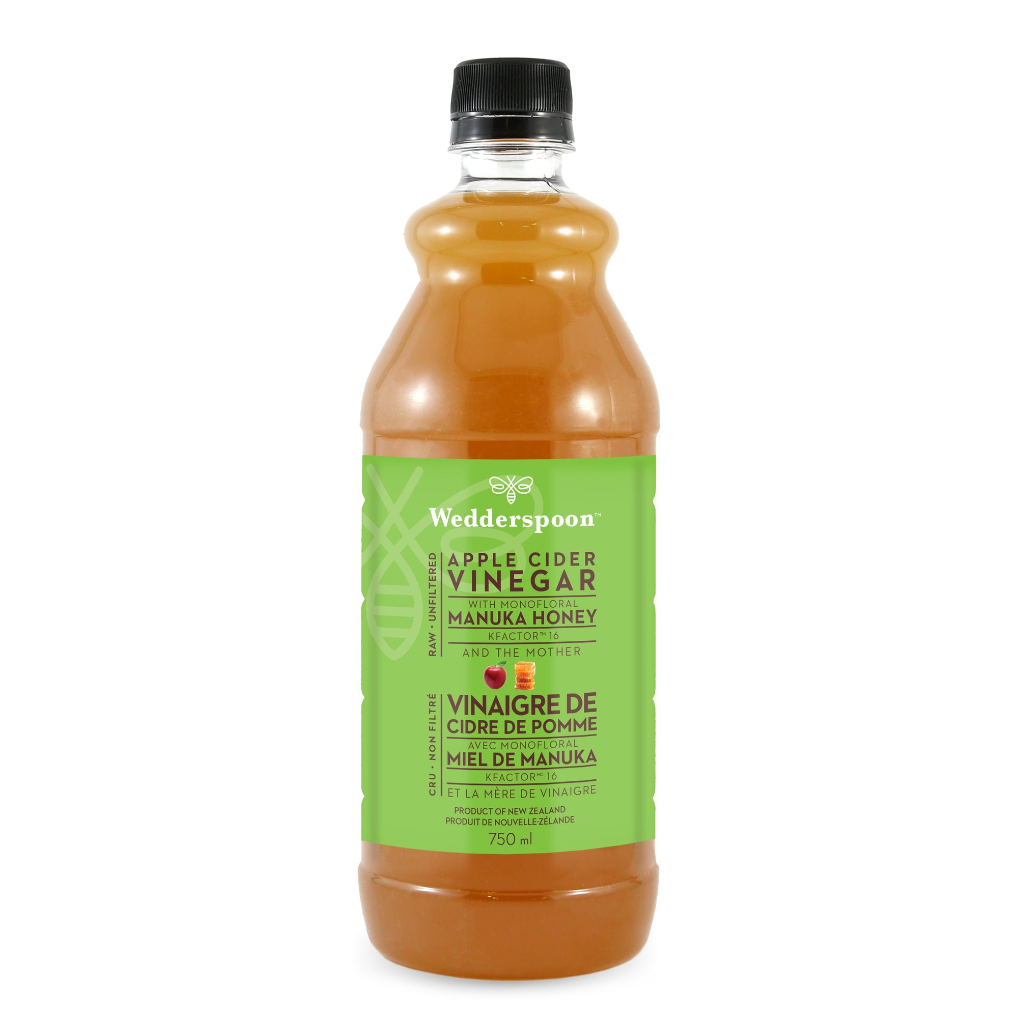 Food & Drink - Wedderspoon - Apple Cider Vinegar With Manuka Honey, 750ml
