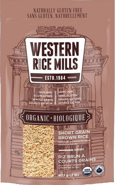 Food & Drink - Western Rice Mills - Organic Short Grain Brown Rice, 907g