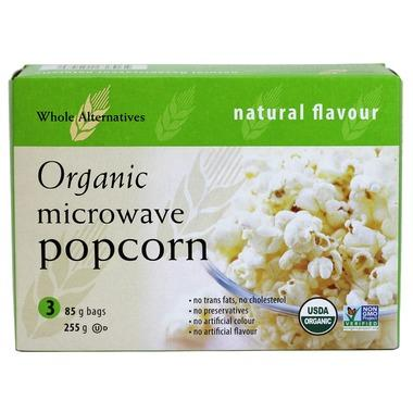 Food & Drink - Whole Alternatives - Organic Low Fat Microwave Popcorn, 3X85g