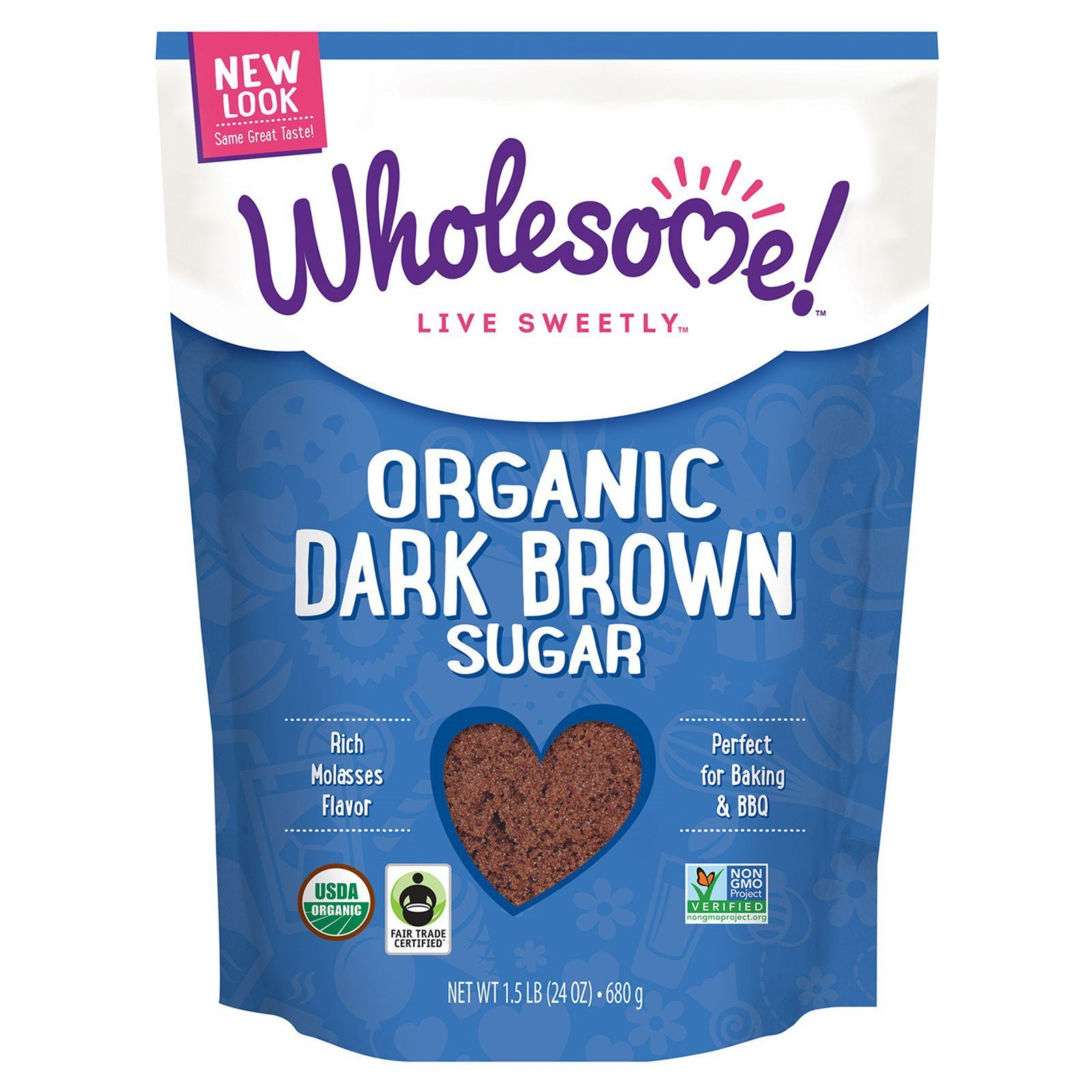 Food & Drink - Wholesome Sweeteners - Organic Dark Brown Sugar Fair Trade, 681g