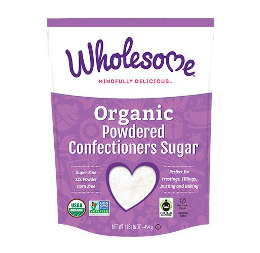 Food & Drink - Wholesome Sweeteners - Organic Icing Sugar Fair Trade, 454g