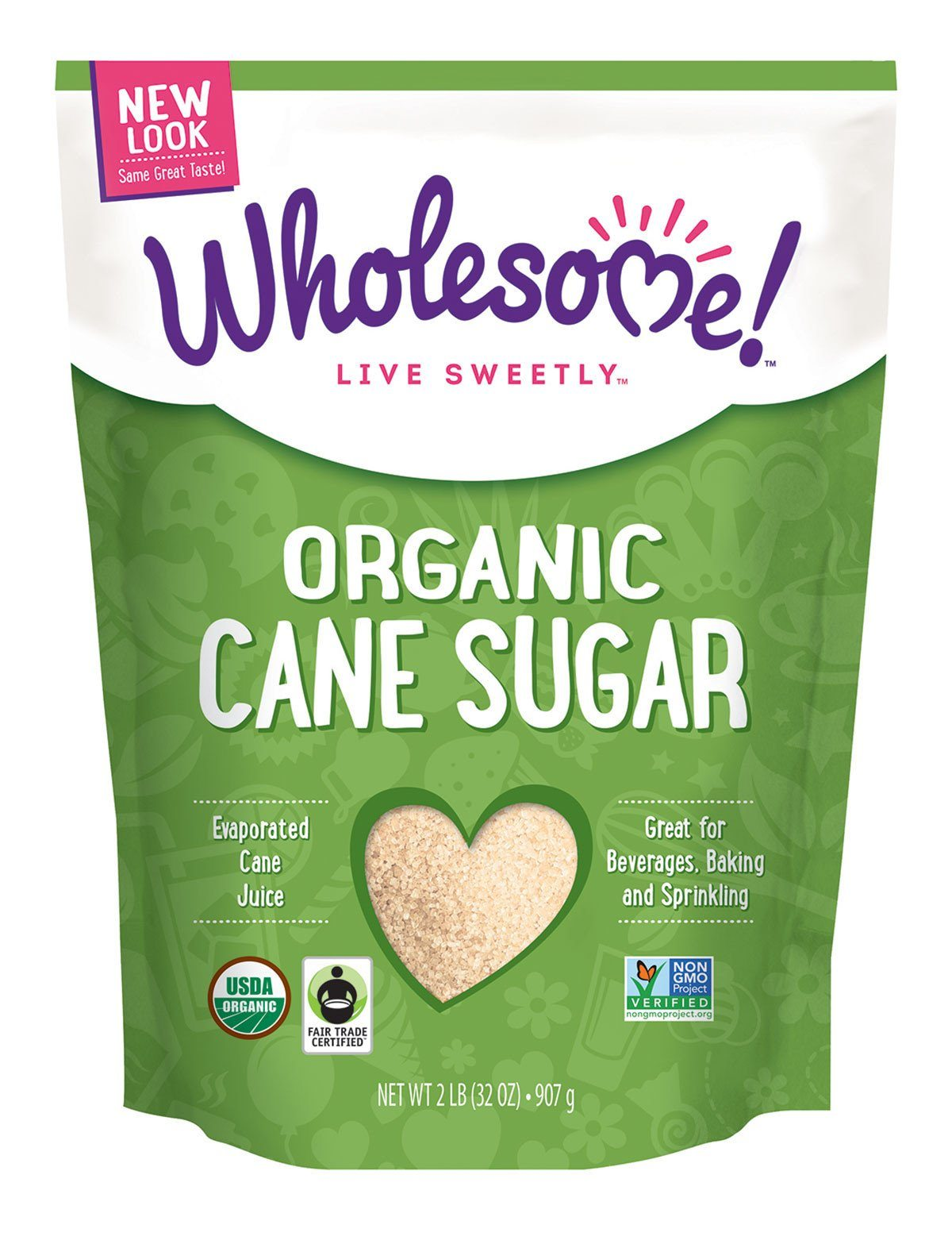 Food & Drink - Wholesome Sweeteners - Organic Sugar FT, 907g