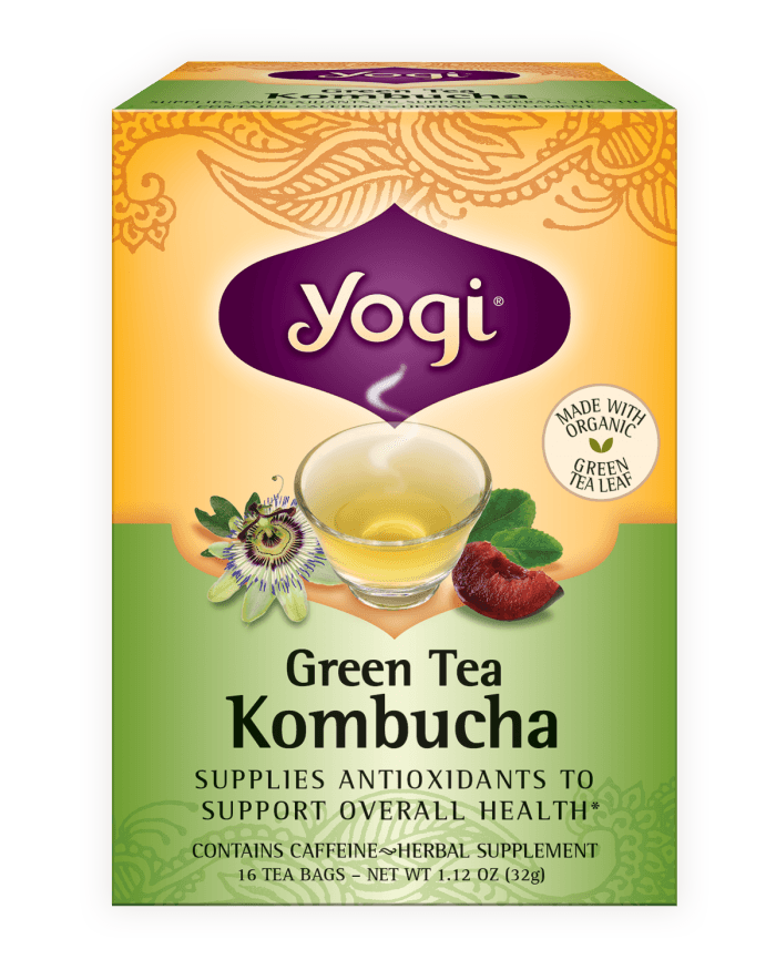 Food & Drink - Yogi -  Green Tea With Kombucha, 16 Bags