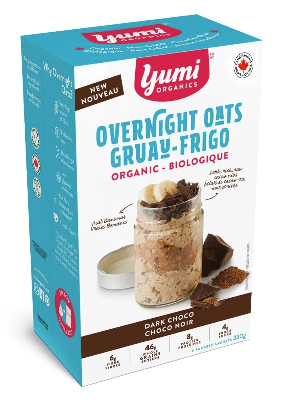 Food & Drink - Yumi Organics - Dark Chocolate Overnight Oats, 330g