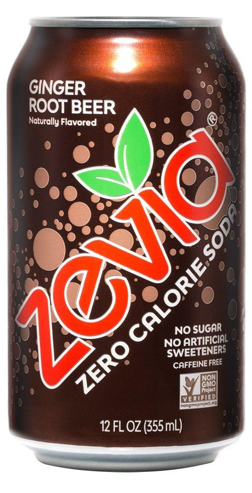 Food & Drink - Zevia - Ginger Root Beer, 354mL
