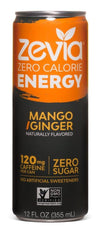 Food & Drink - Zevia - Mango/Ginger Energy Drink, 355ml