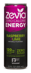 Food & Drink - Zevia - Raspberry/Lime Energy Drink, 355ml