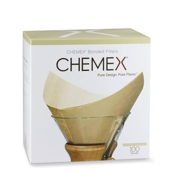 Healthy Lifestyles - Chemex - Unbleached Filter Squares, 100 Pack