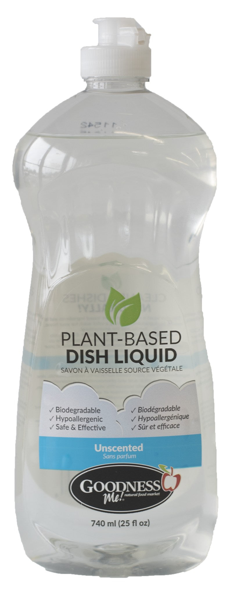 Healthy Lifestyles - Goodness Me! - Dish Soap Unscented - 740ml