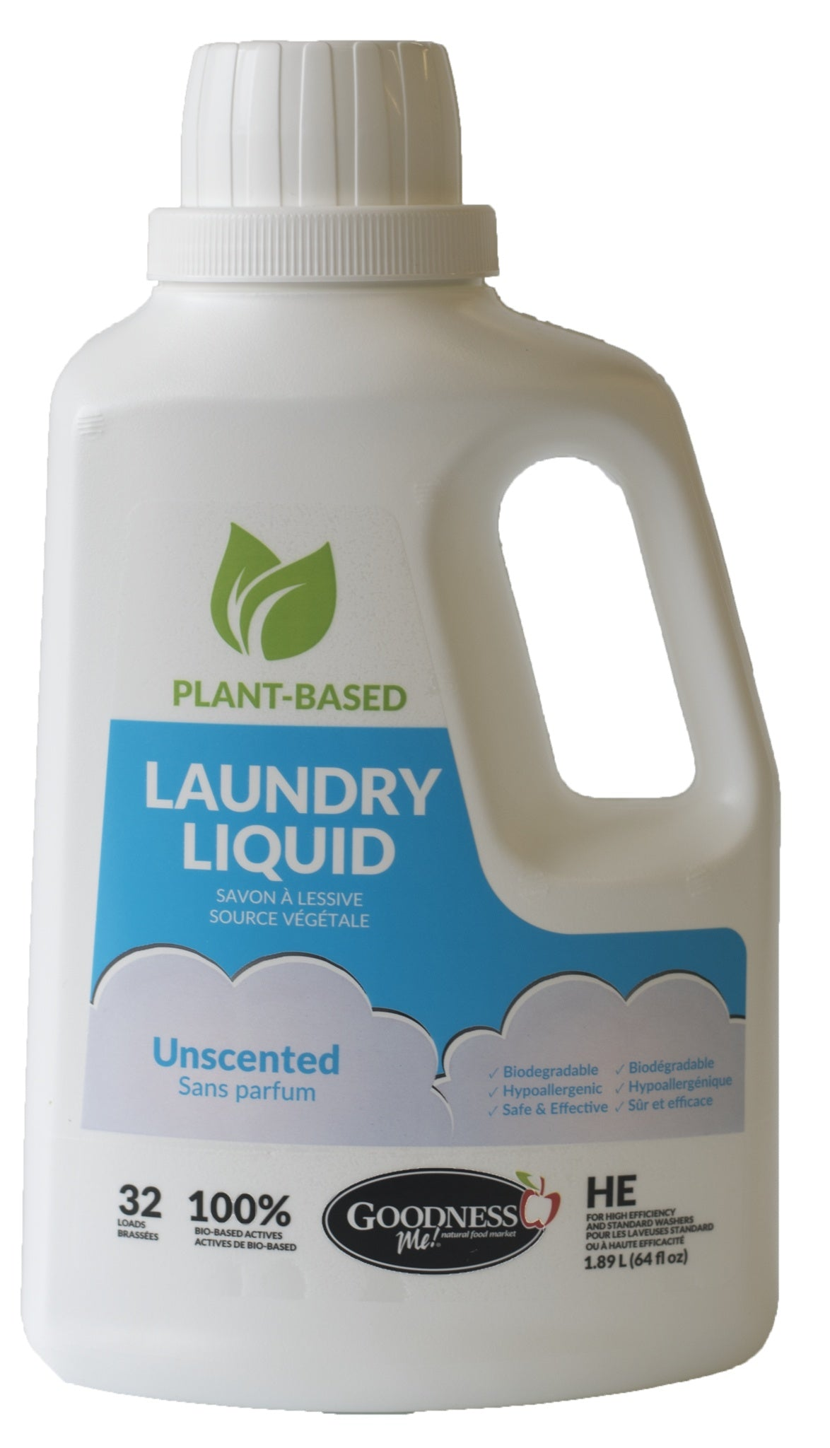 Healthy Lifestyles - Goodness Me! - Laundry Liquid Unscented - 1.89L