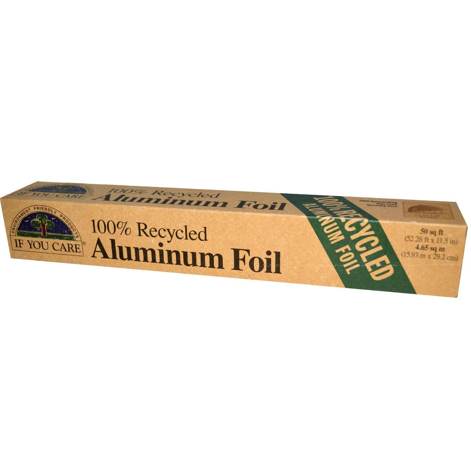 Healthy Lifestyles - If You Care - Enviro Friendly - 100% Recycled Aluminum Foil, 50 Sq. Feet