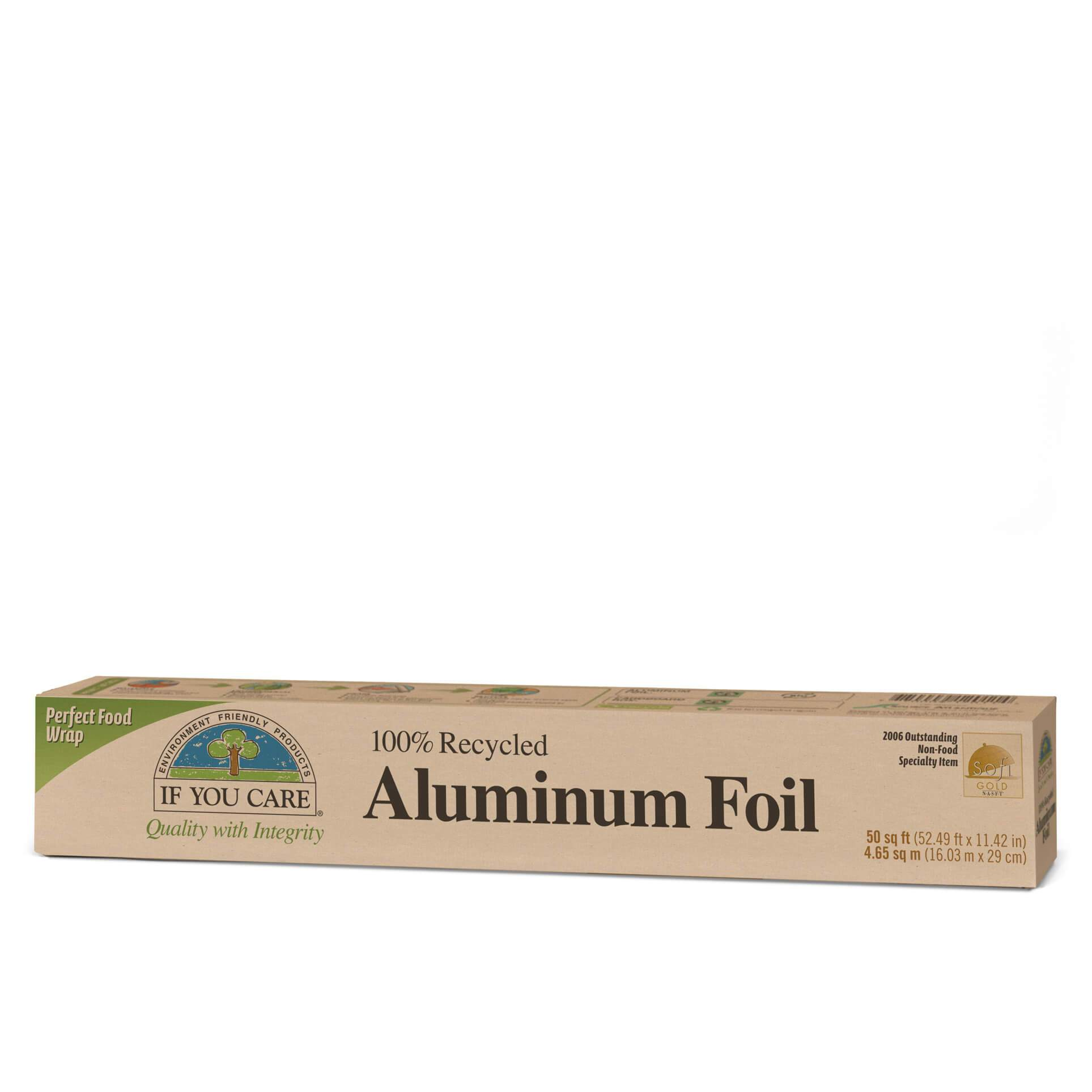 Healthy Lifestyles - If You Care - Enviro Friendly - 100% Recycled Aluminum Foil, 50 Sq. Ft.