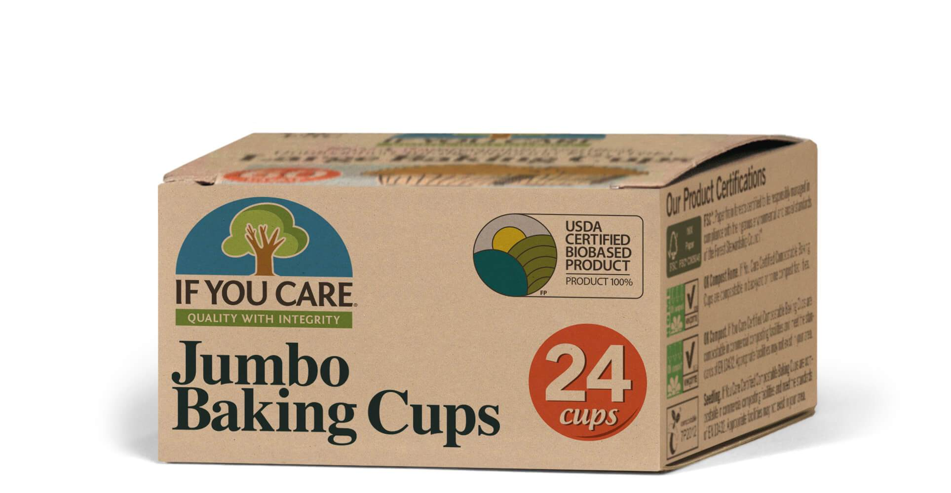 Healthy Lifestyles - If You Care - Enviro Friendly - Jumbo Baking Cups, 24 Cups