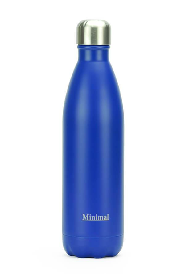 Healthy Lifestyles - Minimal - Insulated Water Bottle, Blue, 750ml