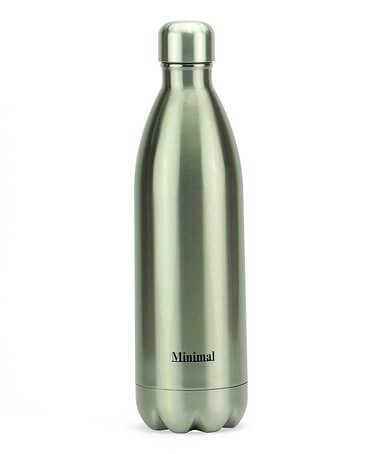 Healthy Lifestyles - Minimal - Insulated Water Bottle, Silver, 1000ml