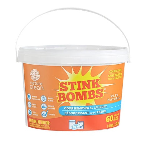 Healthy Lifestyles - Nature Clean - Stink Bombs (fragrance-free), 60 Pack