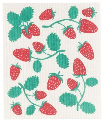 Healthy Lifestyles - Now Designs - Strawberries Swedish Dishcloth