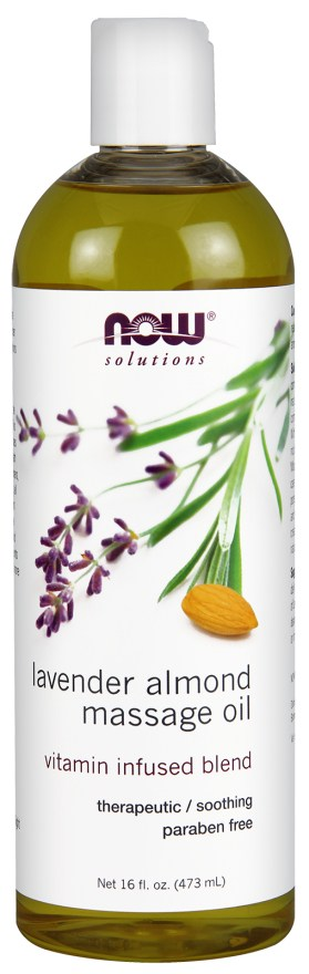 Healthy Lifestyles - NOW Lavender-Almond Massage Oil 473ml