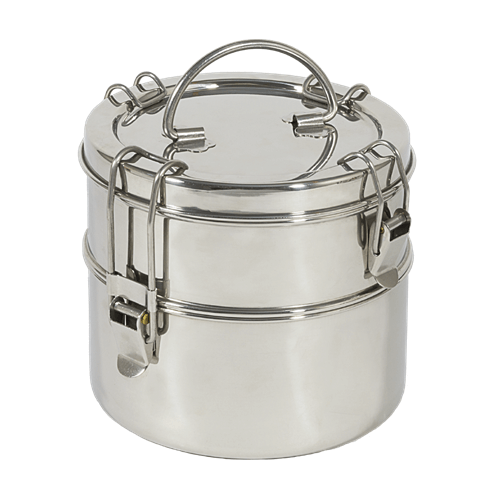 Healthy Lifestyles - To-Go Ware - 2-Tier Stainless Steel Tiffin, Regular Size