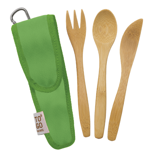 Healthy Lifestyles - To-Go Ware - Kids Utensil Set, Kiwi
