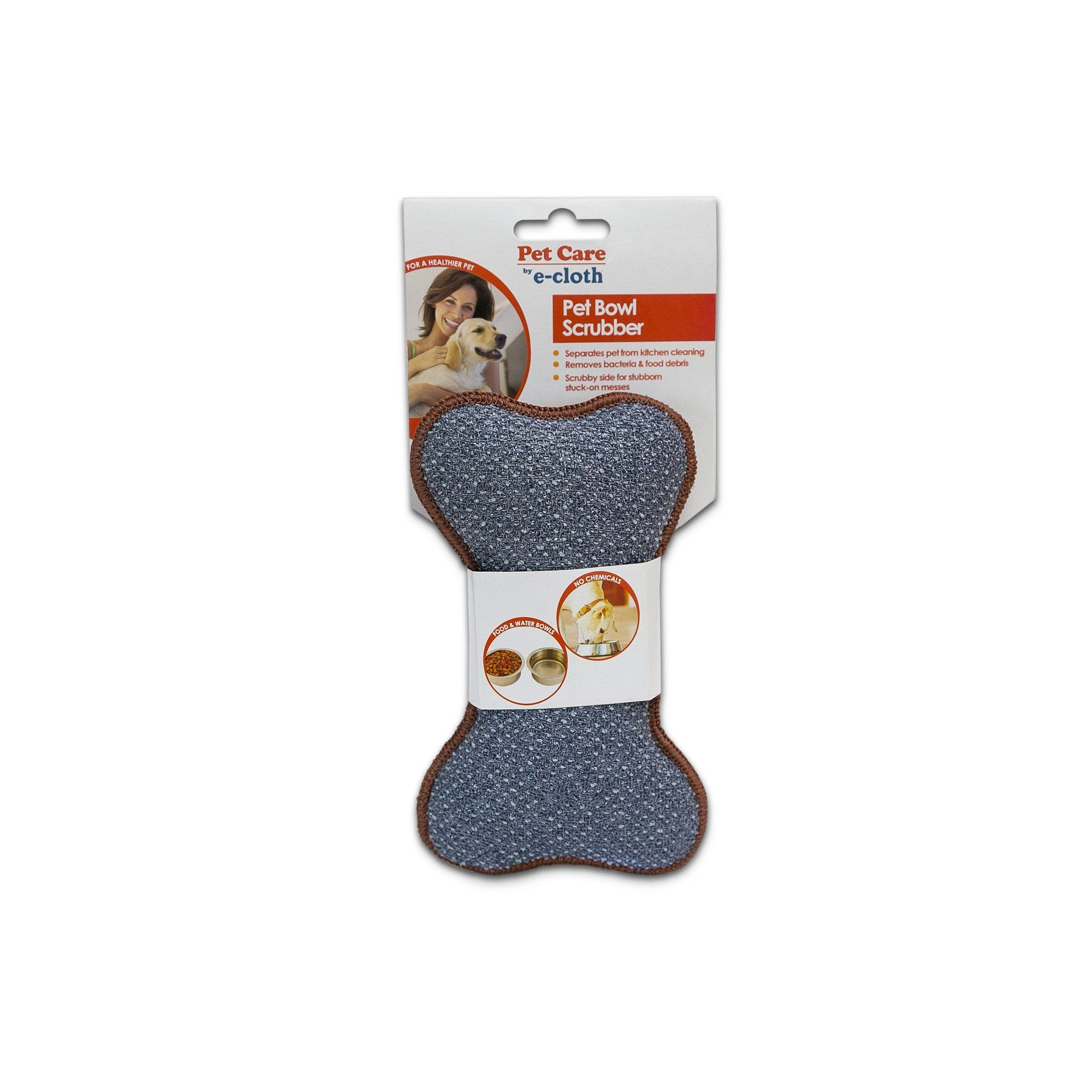 Home & Life - E-cloth - Pet Bowl Scrubber, 1 UNIT