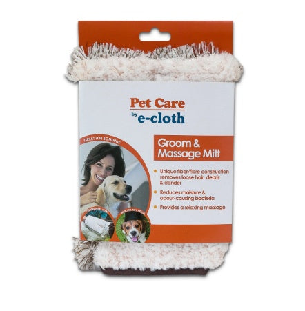 Home & Life - E-cloth - Pet Grooming & Massage Mitt, 1 UNIT