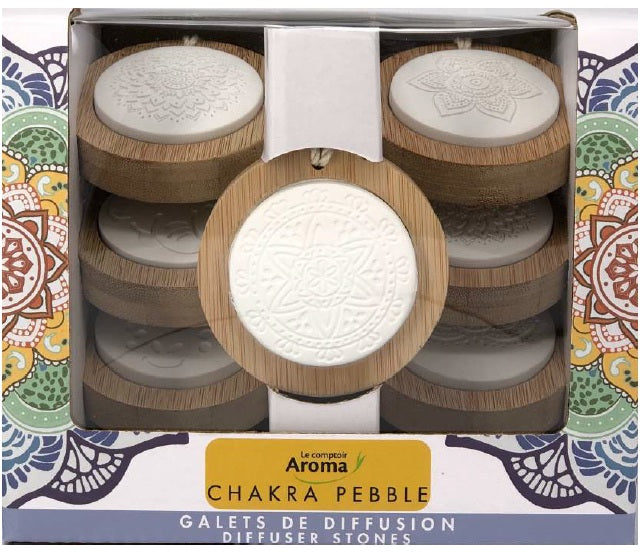Home & Life - Le Comptoir Aroma - Chakra Pebble, 7 Pieces