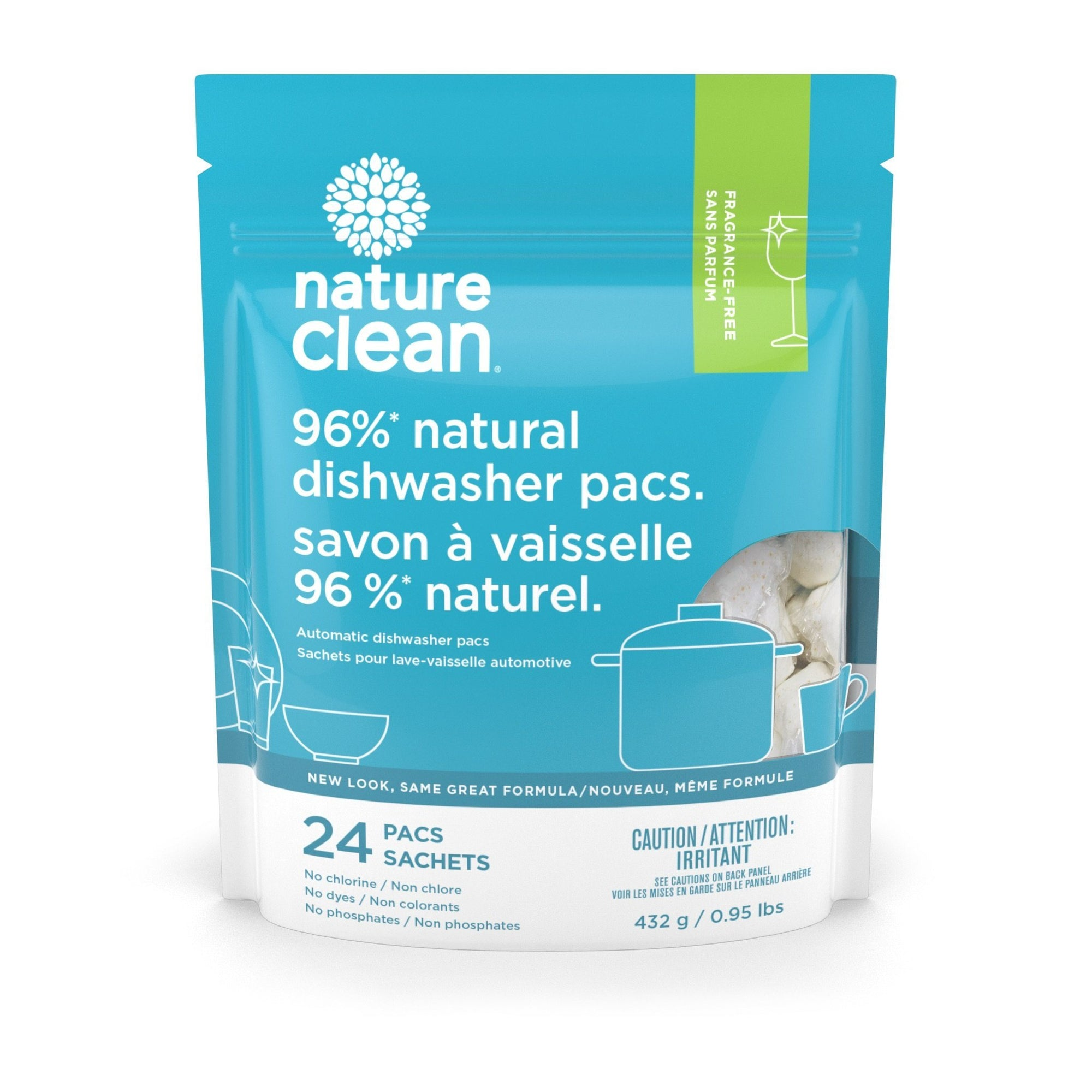 Home & Life - Nature Clean - Automatic Dishwasher Pacs - 24 CT