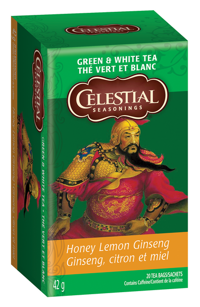 Celestial Seasonings - Honey Lemon Ginseng Green Tea, 20bags - Goodness Me!