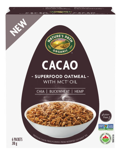 Nature's Path - Oatmeal, Cacao, 6 x 35g packets
