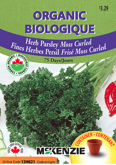 McKenzie Seeds - Herb Parsley Moss Curled Organic Seeds