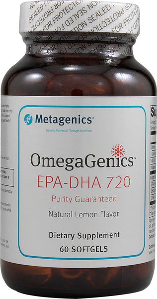 Metagenics - EPA-DHA 720 Lemon Flavour - 60 softgels - Goodness Me!