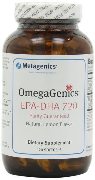 Metagenics - EPA-DHA 720 Lemon Flavour, 120 softgels - Goodness Me!