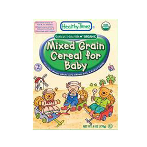 Healthy Times - Organic Mixed Grain Baby Cereal, 227g - Goodness Me!