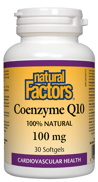Natural Factors - Coenzyme Q10 - 100mg, 30 softgels - Goodness Me!