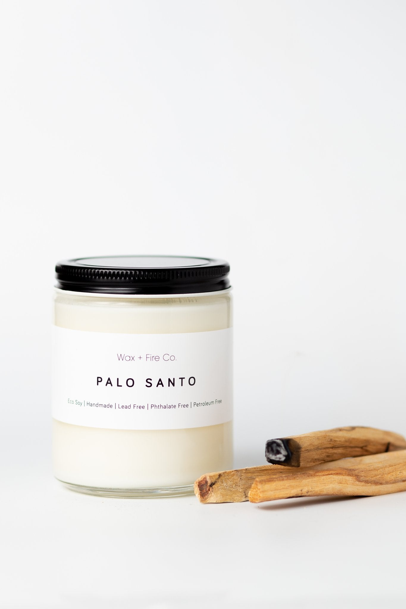 Wax + Fire - Palo Santo Soy Candle, 4oz