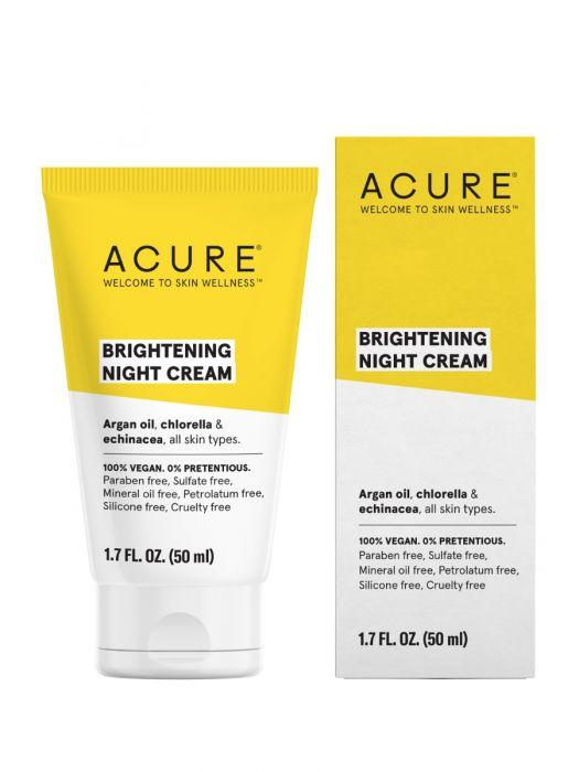 Personal Care - Acure - Brilliantly Brightening Night Cream, 1.7oz