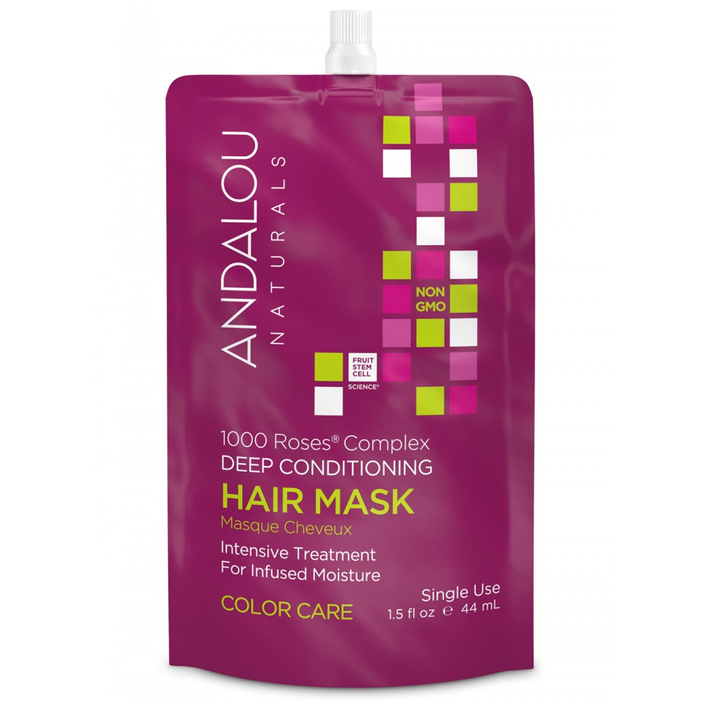 Personal Care - Andalou Naturals - 1000 Roses Complex Conditioner Hair Mask, 44ML