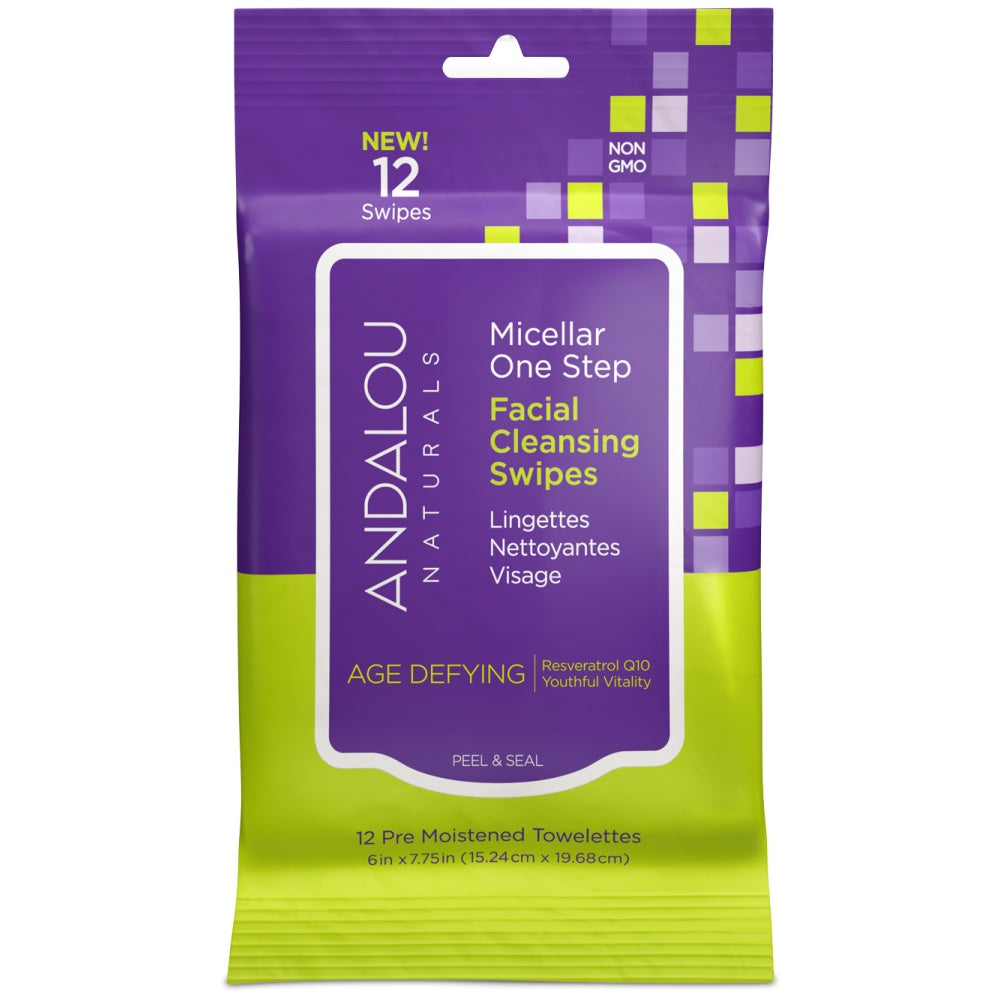 Personal Care - Andalou Naturals Age Defying Facial Wipe, 12 Wipes