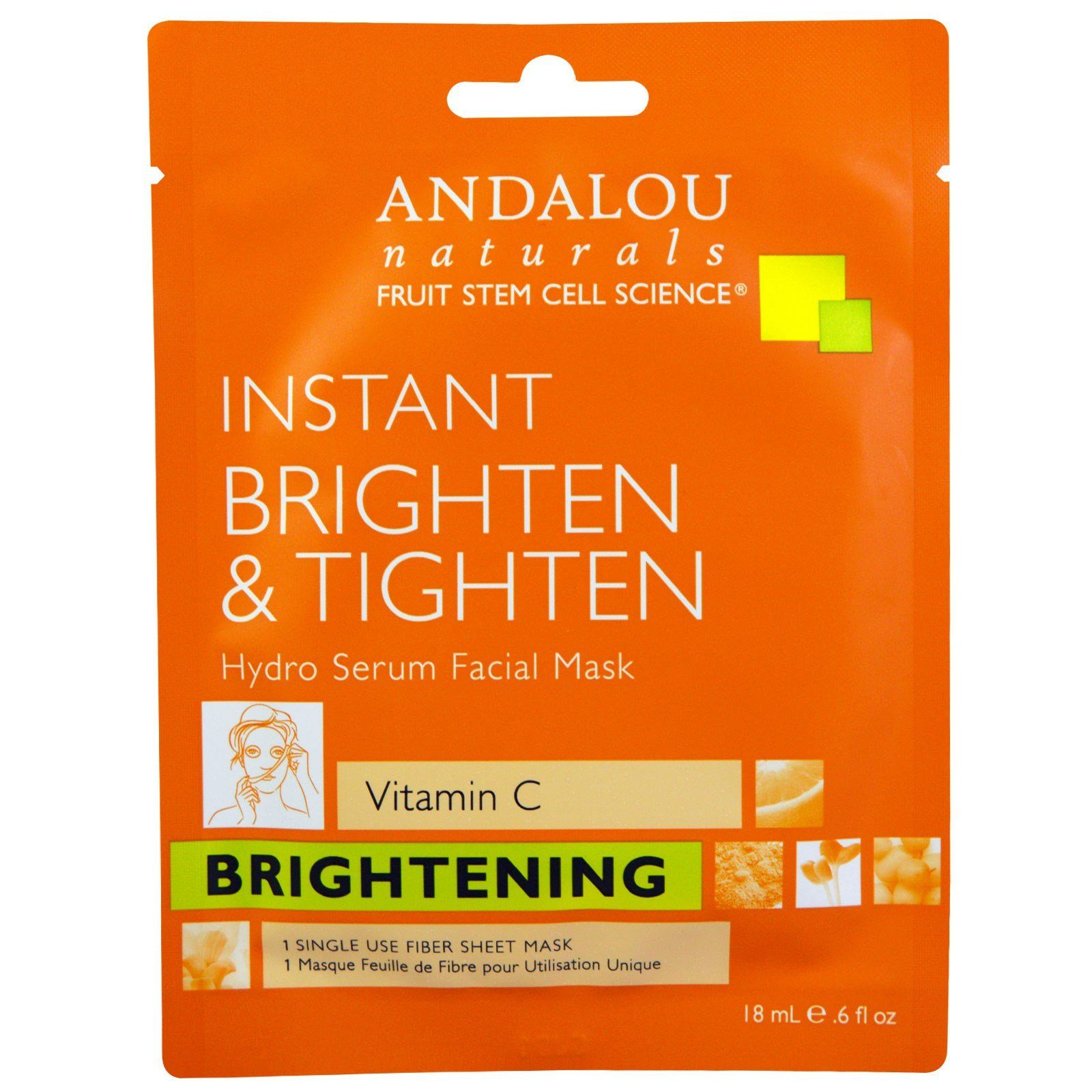 Personal Care - Andalou Naturals - Facial Sheet - Brightening, 18ML