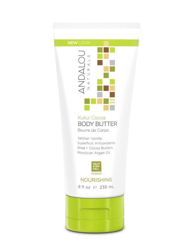 Personal Care - Andalou Naturals - Kukui Cocoa Nourishing Body Butter, 236ml