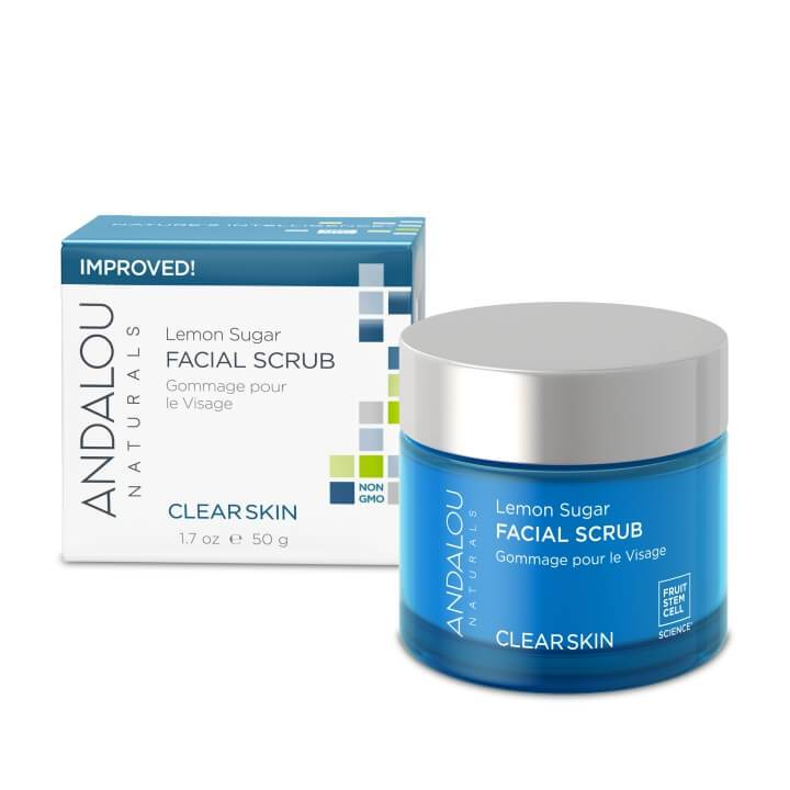Personal Care - Andalou Naturals - Lemon Sugar Facial Scrub, 50ml